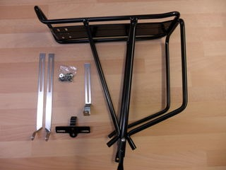 JD TANDEMS Tubular Alloy 3 leg rear pannier rack